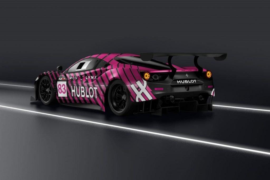 Ferrari 488 GT3 IronDames kessel lemans girls iron hublot Garage Italia