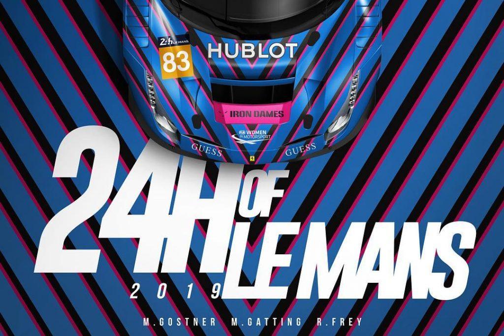 24 ore Le Mans sublet guess Garage Italia iron dames