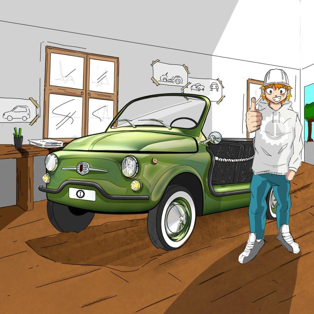 spiaggina verde lime completa Garage Italia
