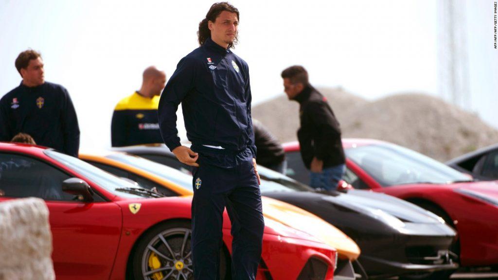 Zlatan Ibrahimovic e le auto